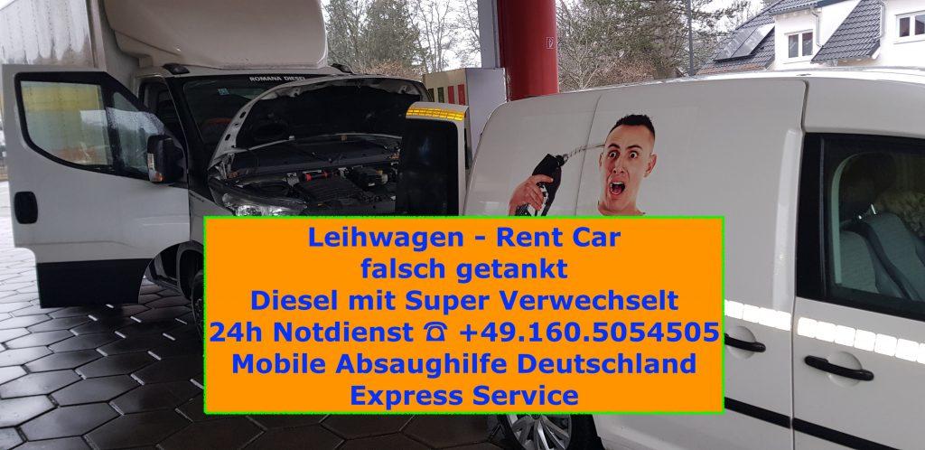 Auto falsch getankt in Deutschland