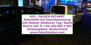 Auto falsch getankt in Deutschland 0160-5054505