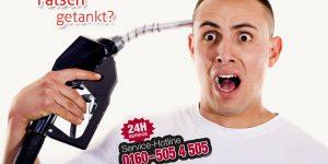 Skoda falsch-getankt-Deutschland-notdienst-flyer-24h-telefonnummer-01605054505