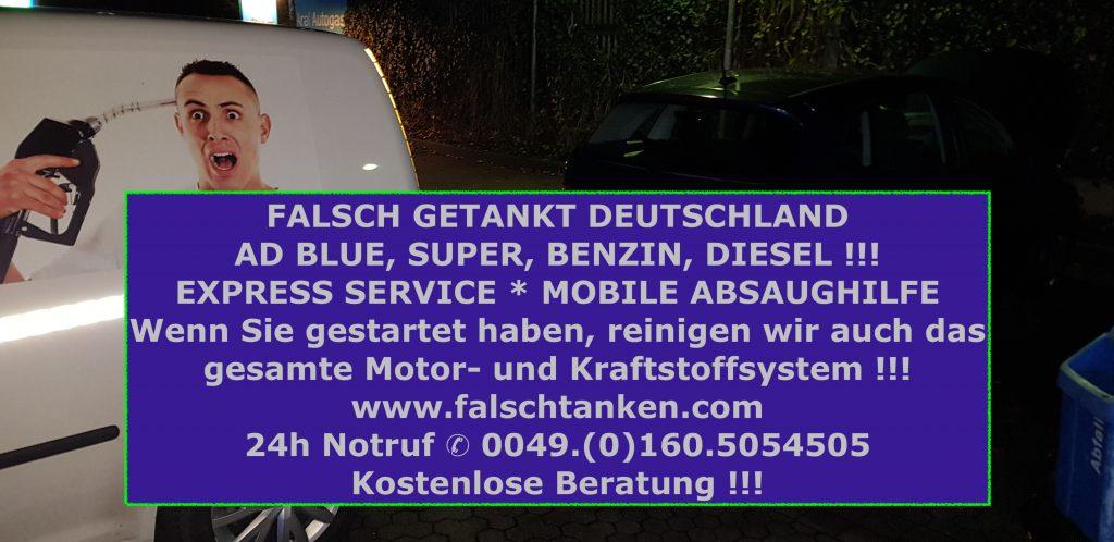 adBlue falsch getankt Werbung mit  Abpumpen Fahrzeug