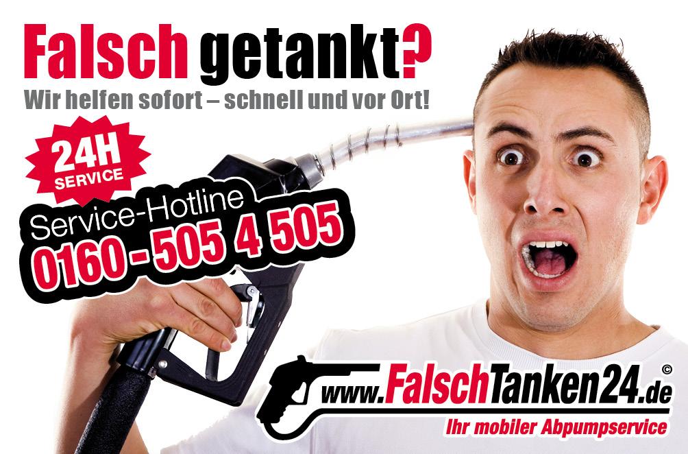 falsch-getankt-Werbung-Flyer-Service-Hotline-01605054505